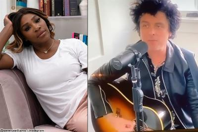 Serena Williams attends Green Day's Living Room Concert