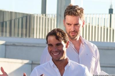 Pau Gasol asks for solidarity after helping Rafael Nadal raise €11M for charity