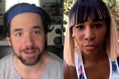 Alexis Ohanian leaves dad duties & Serena Williams to talk business with Venus