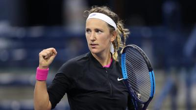 Spanish learning Azarenka on shouting Vamos: Not like Rafa Nadal, but I do do that