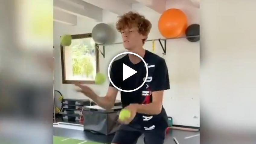 Jannik Sinner trains like A JUGGLER!