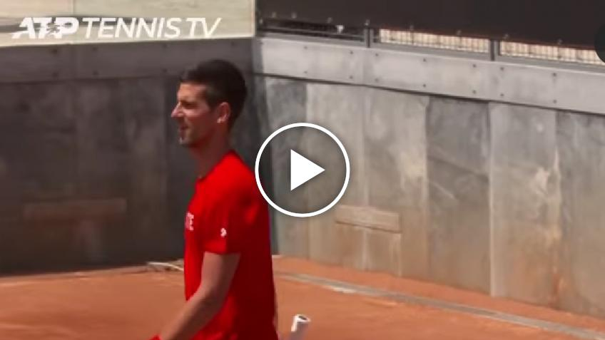 "Djokovic in Rome: ""This is what happens when you train with Andy Murray"""