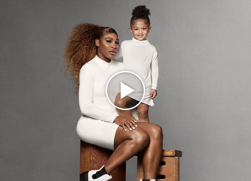 Serena Williams plays tennis with her daughter Olympia!