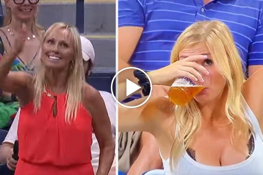 Robotic fan steals the show at US Open after beer-chugging blonde
