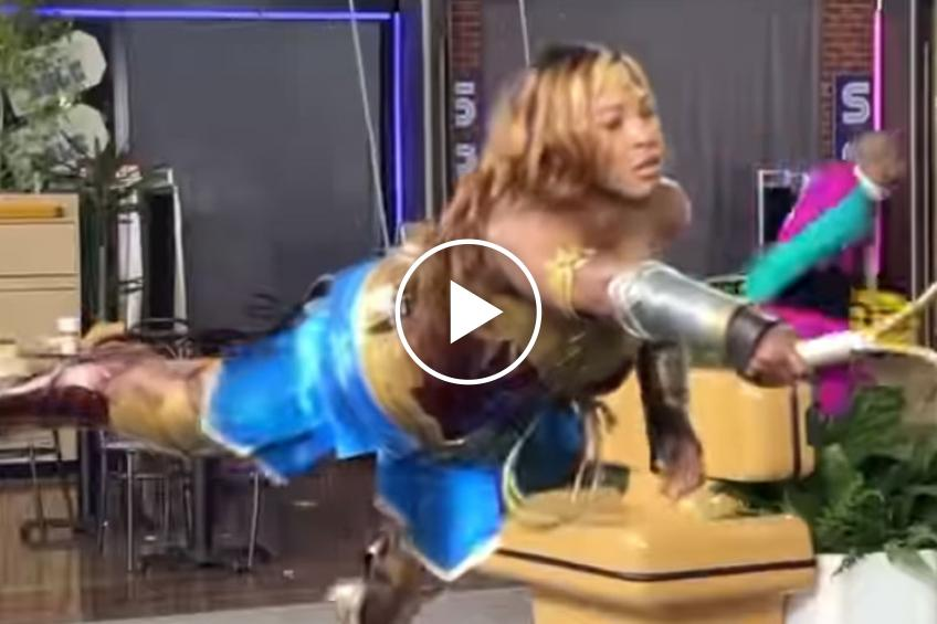 Serena Williams shares flying trick after becoming Wonder Woman