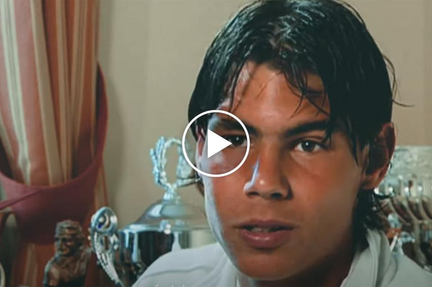 Emotional video of Rafael Nadal growing from 3 to 18 years old
