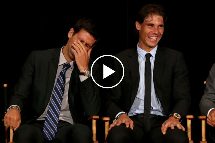 Funny Novak Djokovic Tries To Distract Rafael Nadal In An Interview Video Inside