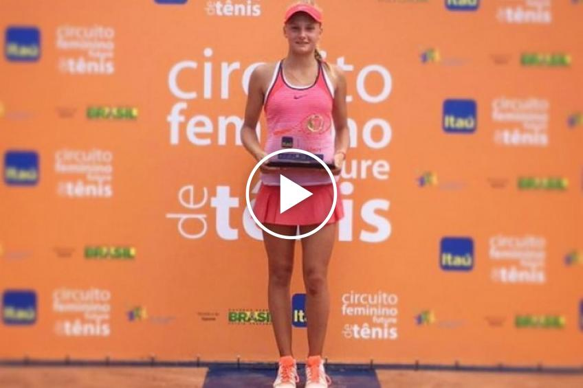 15-year-old Dayana Yastremska wins her first professional title in Campinas