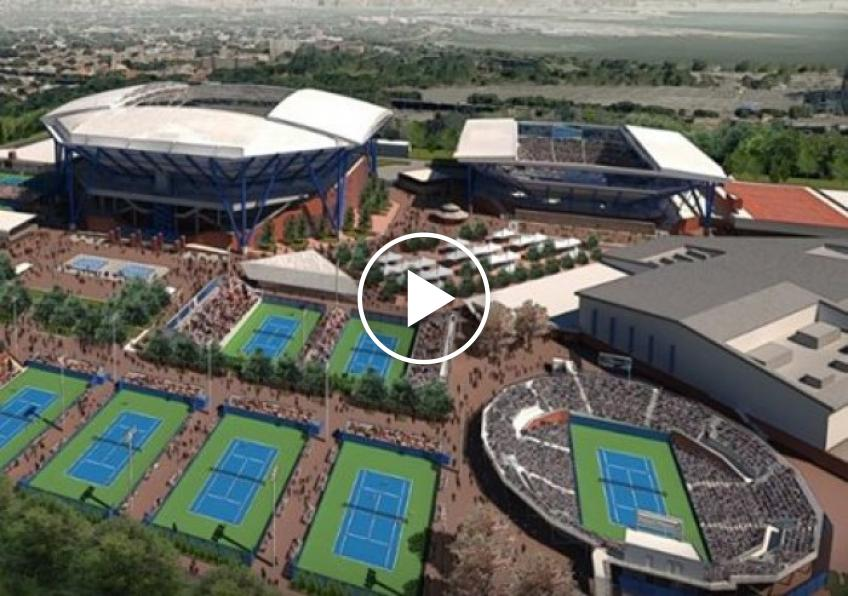 Works on the roof of the Arthur Ashe stadium are finally done (VIDEO INSIDE)