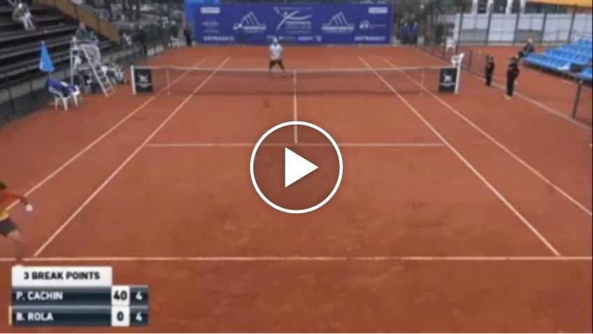 Amazing tweener lob by Pedro Cachin