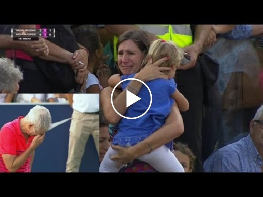 EMOTIONAL Mother loses then finds daughter during Rafael Nadal exhibition! (VIDEO INSIDE)