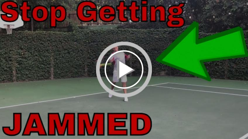 How to Stop Getting Jammed on Your Groundstrokes (VIDEO)