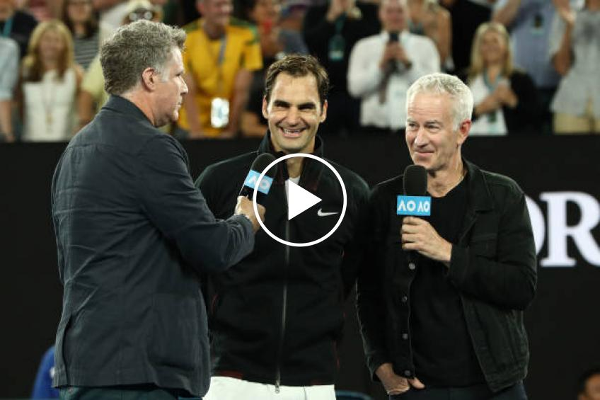 Will Ferrell: 'I forgot to ask Federer if that was his real hair or a wig'