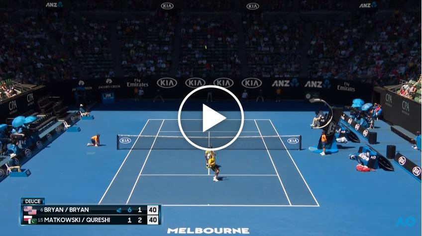 The best doubles rally youll see this year australian open 2018 stopboris Images