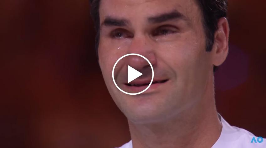 Roger Federer's human side: he tears up after his win!