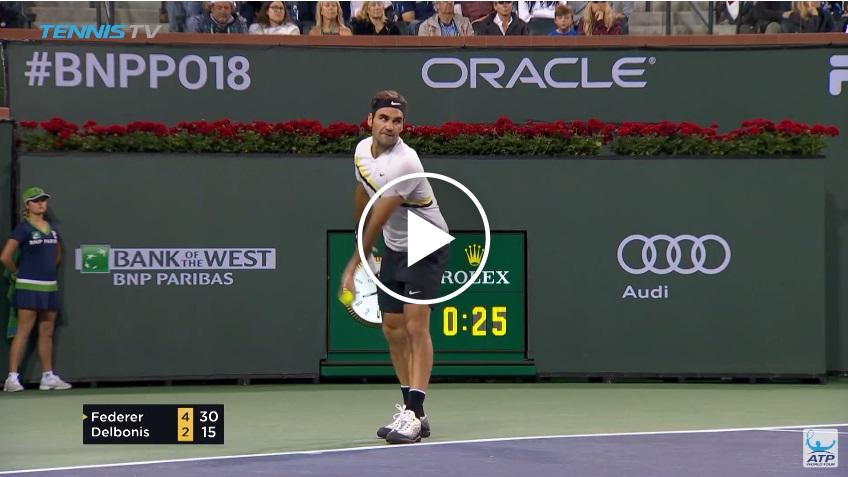 Master at the Net: Roger Federer hits two amazing volleys