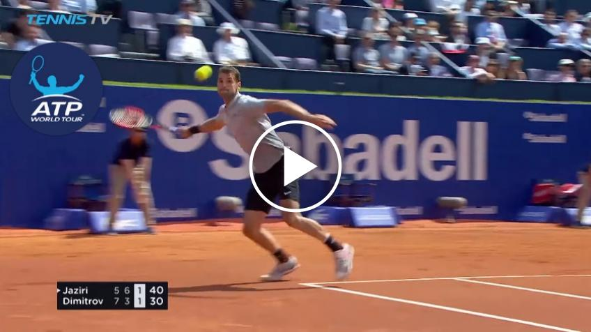 Dimitrov Unleashes Crazy Forehand Winner