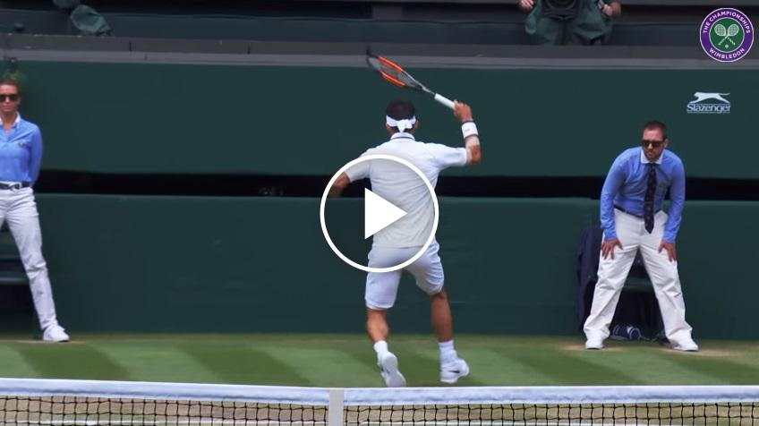 Kei Nishikori hits tweener, wins point