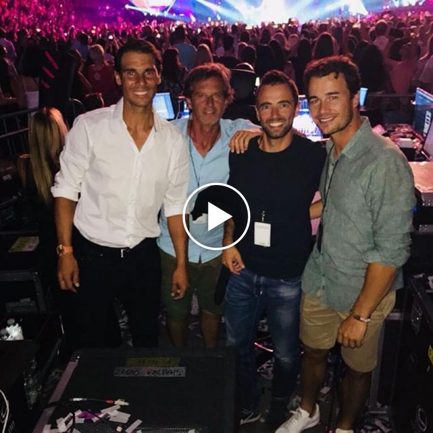 Excited Rafael Nadal dances at Shakira concert - Video and Photos