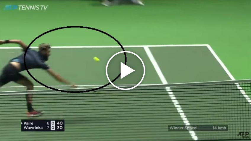 Benoit Paire hits amazing volley against Stan Wawrinka