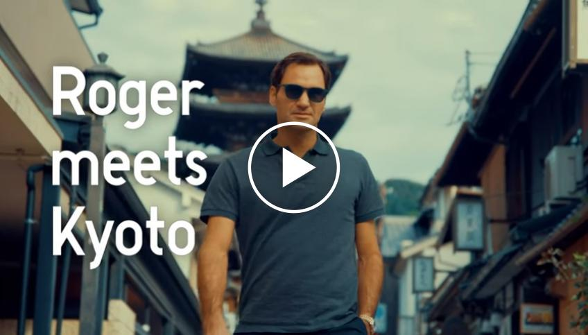 Roger Federer meets Kyoto for Uniqlo - Funny advertisement video