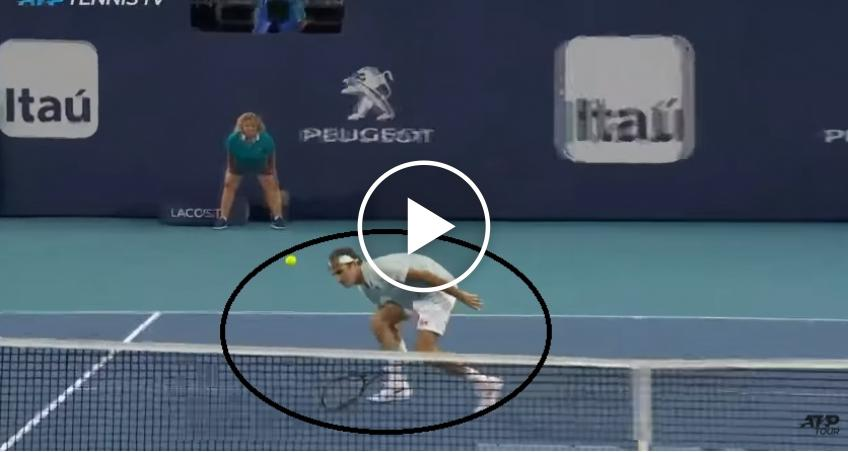 Even For Federer This Is A Special Volley In Miami 2019