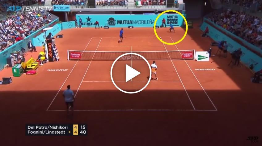 Fognini Saves Doubles Point With Tweener