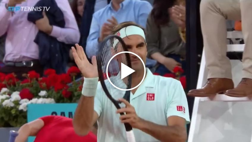 Roger Federer beat Richard Gasquet - Match Point