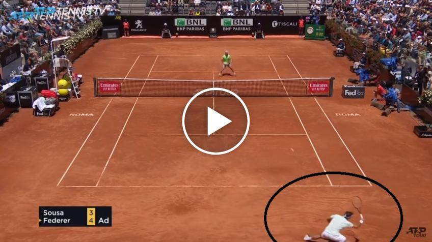 Roger Federer hits unreal passing shot