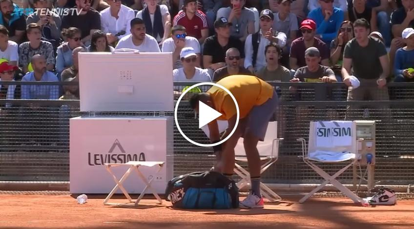 Nick Kyrgios throws chair, leaves the court