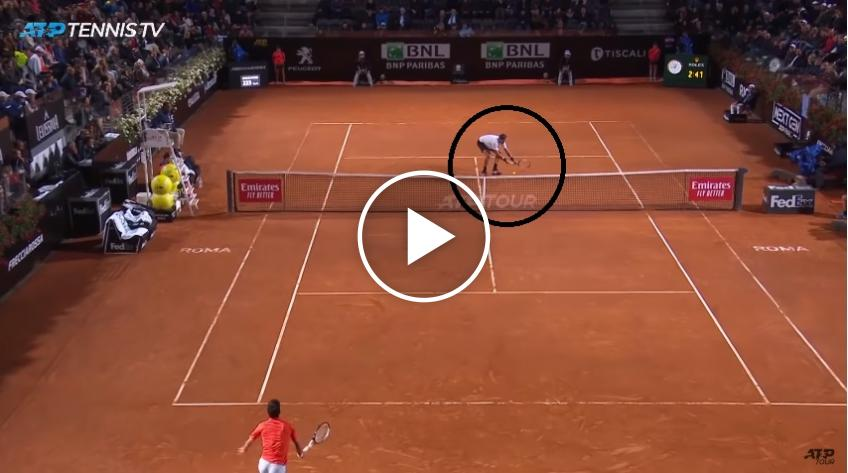 Del Potro hits amazing drop shot, Novak Djokovic applauds