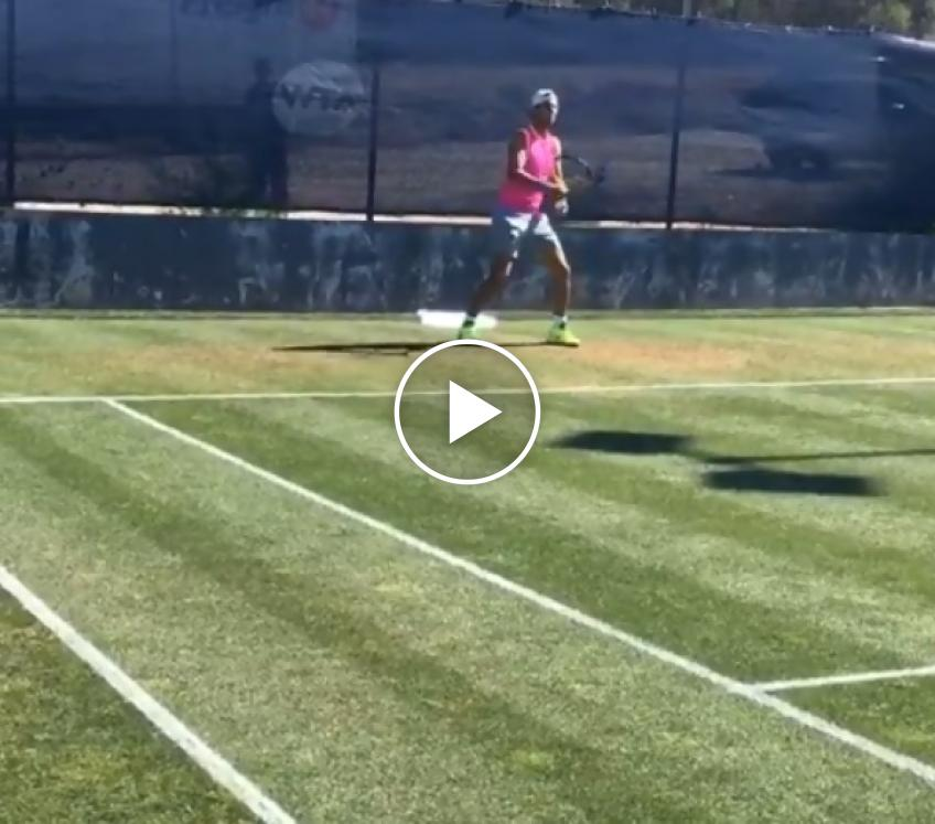 Rafael Nadal hits first training session in Mallorca