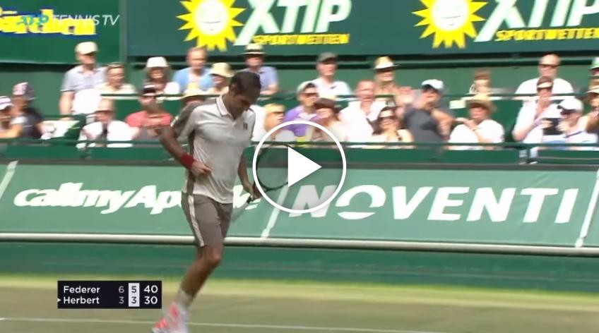 Roger Federer vs Herbert - Match Point