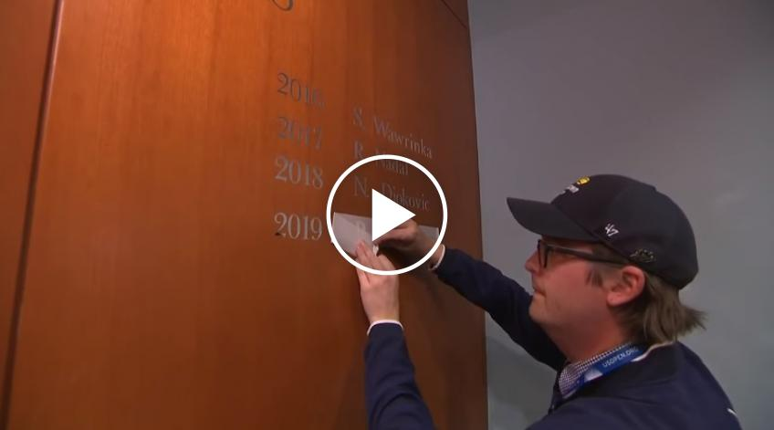 Nadal's name etched into Wall of Champions