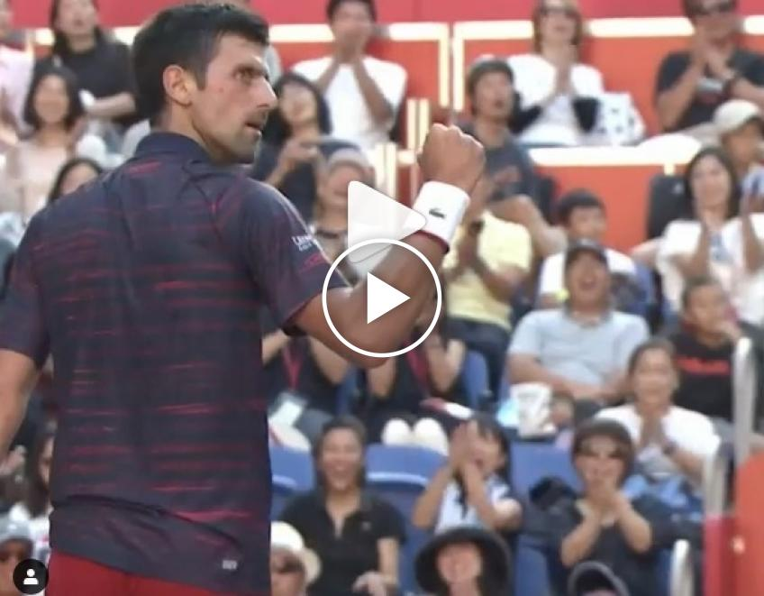 Djokovic wins thrilling rally against Goffin