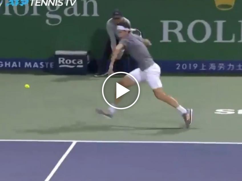 Nadal's reminiscent: Thiem hits great forehand