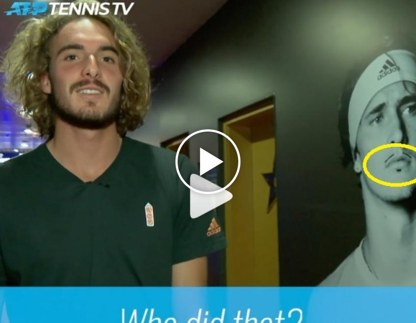 Tsitsipas, Thiem and Zverev's fake moustache