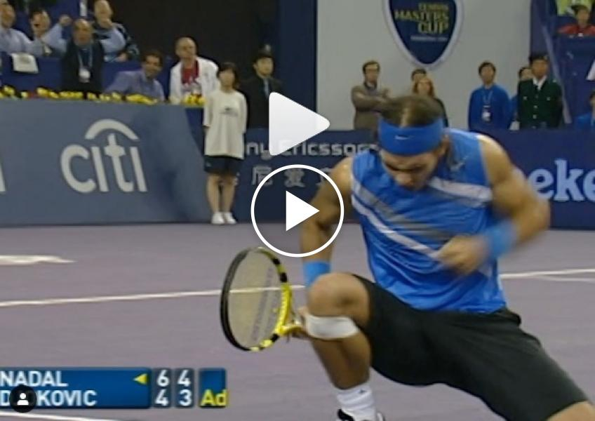 2007 Masters Cup, Nadal and Djokovic play titanic rally