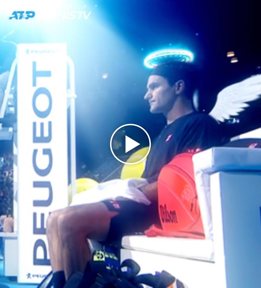 Camera angle gives Roger Federer a halo at ATP Finals