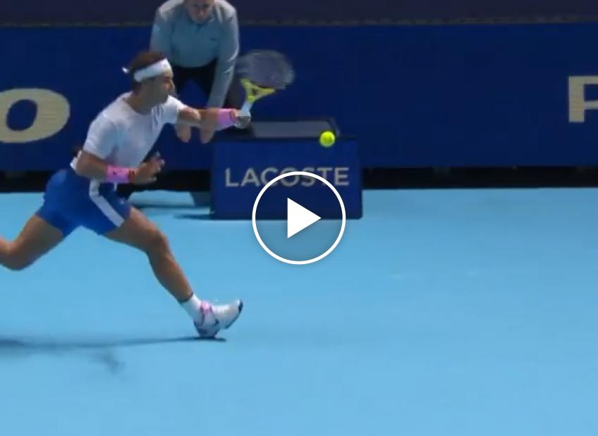 Nadal hits unbelievable forehand passing