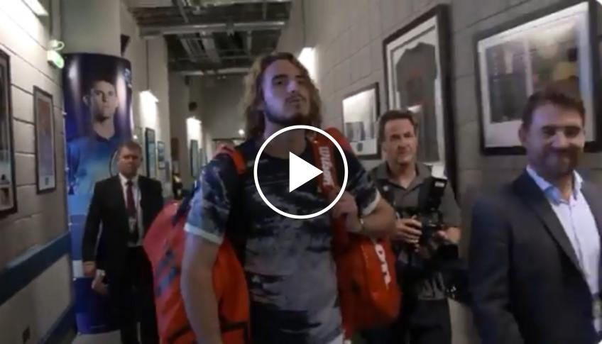 How Tsitsipas celebrated his win over Federer
