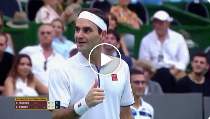 A fan asks Federer for a photo, the Swiss acts in a surprising way