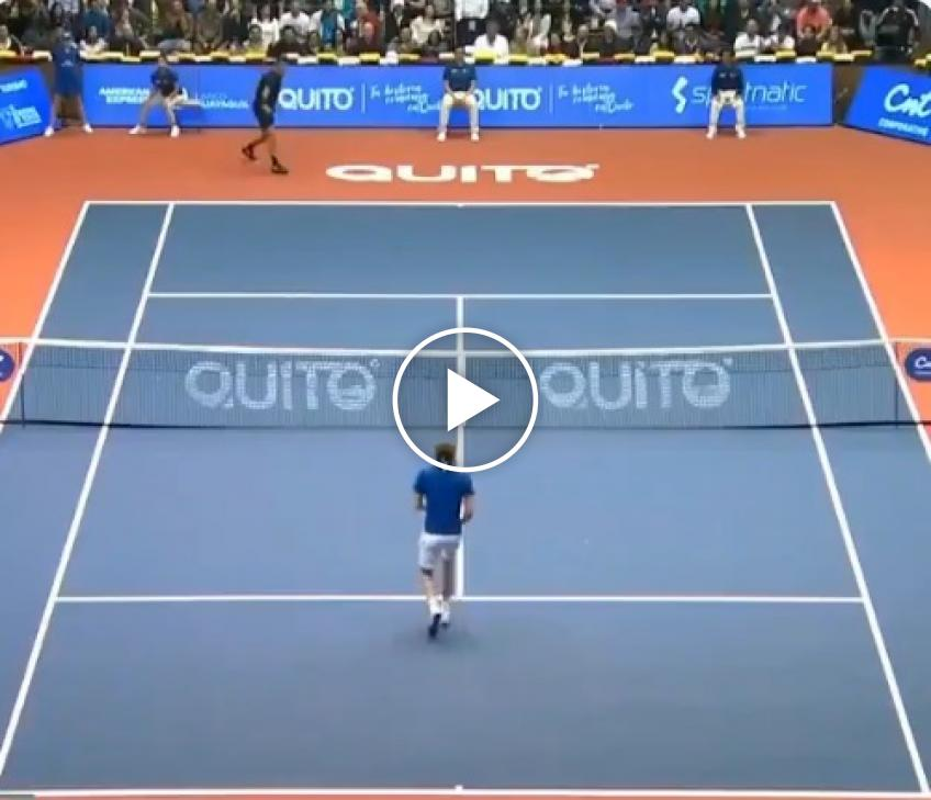 Federer and Zverev play point without hitting ball in Quito