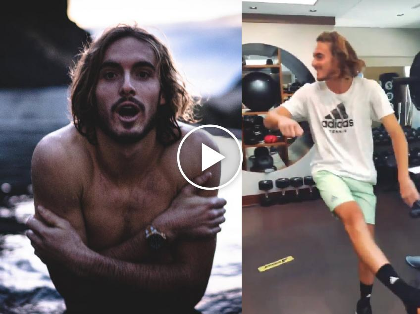 Stefanos Tsitsipas shows off dancing skills in gym