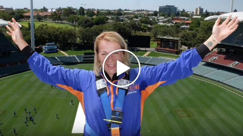 Russian Anastasia Pavlyuchenkova Scales The Roof of the Iconic Adelaide Oval