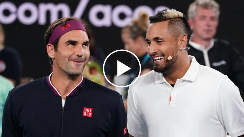 Roger Federer Receives Marriage Proposal while Playing Kyrgios at AO Rally for Relief