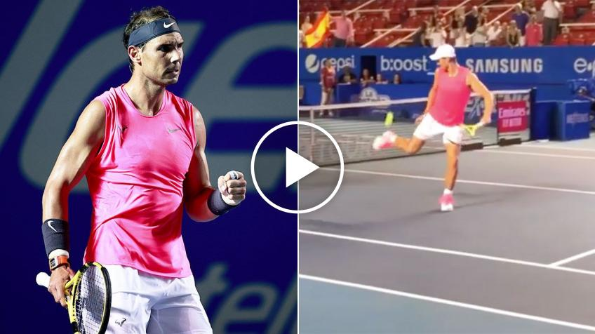 Viewers wowed by Rafael Nadal's insane dribbling skills in Acapulco