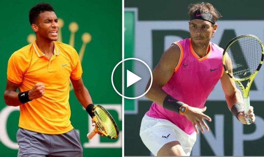 Rafael Nadal Trains at Indian Wells Ahead of the BNP Paribas Open