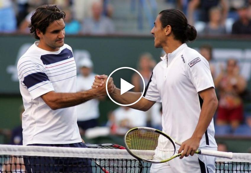When Canas defeated Roger Federer at Indian Wells and Miami