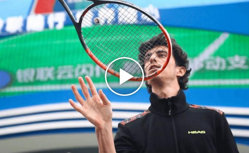 Stefan Bojic's Latest Trick Shot During the Tennis Lockdown